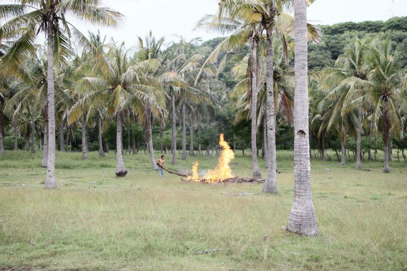 Les quatre éléments. Gili Island, Indonésie. 2010