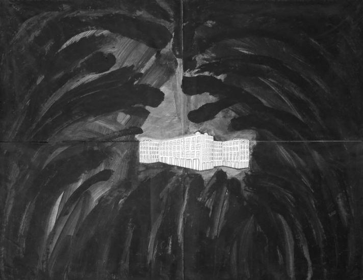Paysage (1). Gouache et encre sur papier. 2013