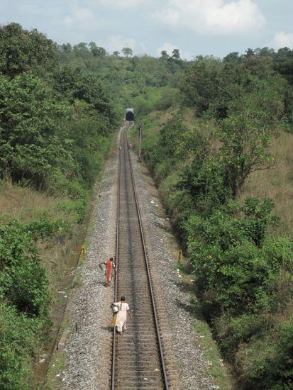 En chemin. Goa, Inde. 2009