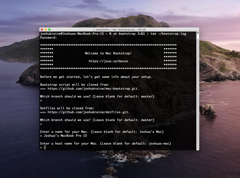 mac-bootstrap screenshot