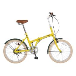 【KCD】20型折りたたみ自転車 シンプルスタイル ハーヴェストイエロー