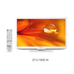 【シャープ】19型液晶テレビ 外装 縦12cm横49.2cm高さ38.6cm   ホワイト