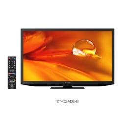 【シャープ】24型液晶テレビ 外装 縦12cm横62.6cm高さ43.7cm   ブラック