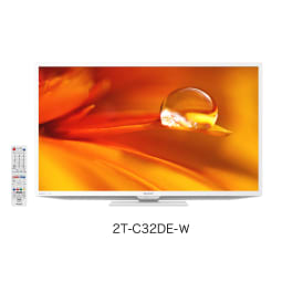 【シャープ】32型液晶テレビ 外装 縦13.8cm横80.7cm高さ50.7cm   ホワイト