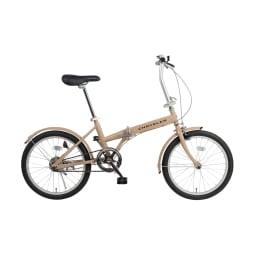 【クライスラー】20インチ折畳自転車 約幅149×奥53×高さ97㎝ ベージュ