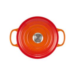 LE CREUSET(ル・クルーゼ)シグニチャー ココット・ロンド 18cm オレンジ (ブラックマットホーロー)