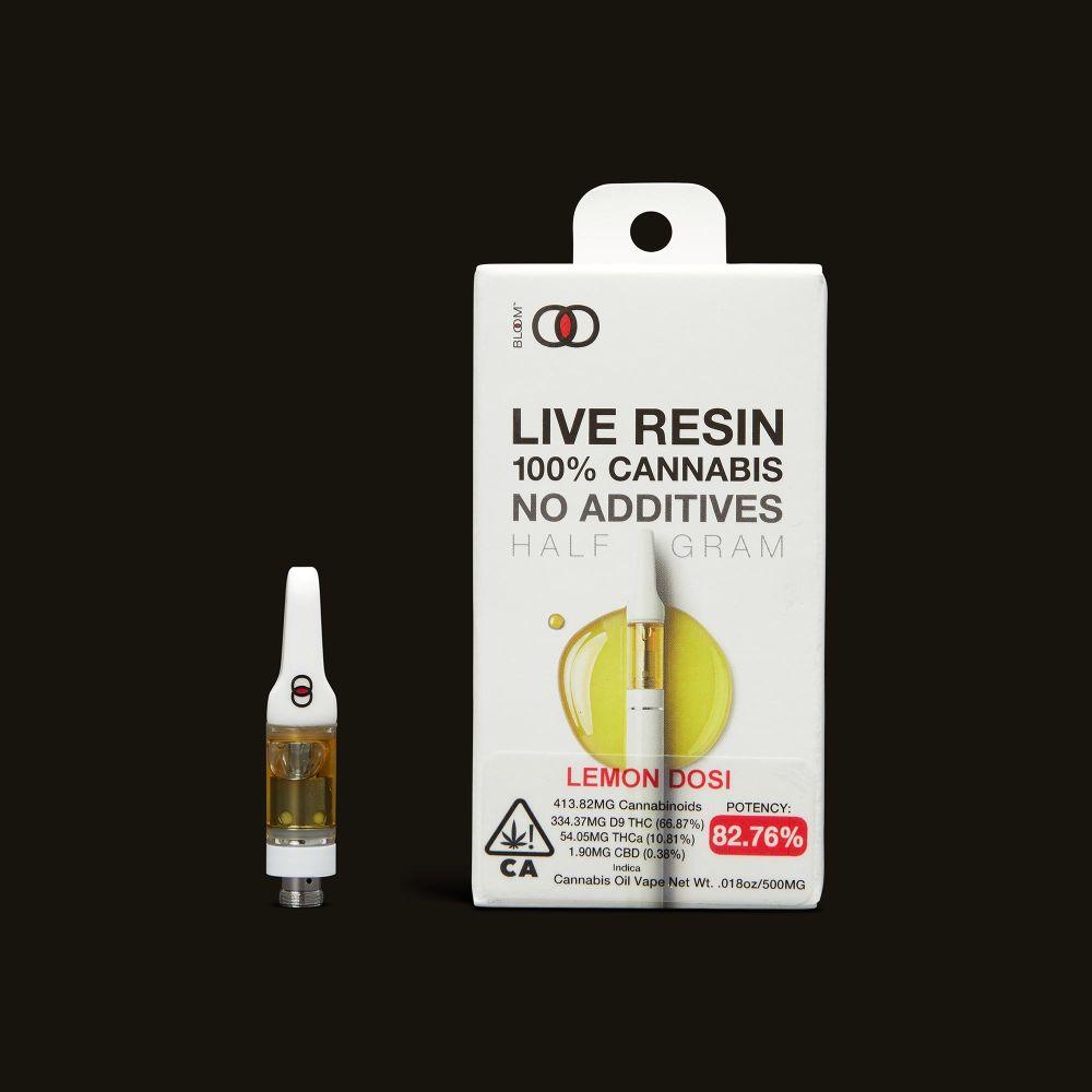 Bloom Brands Lemon Dosi Live Resin Cartridge - .5g