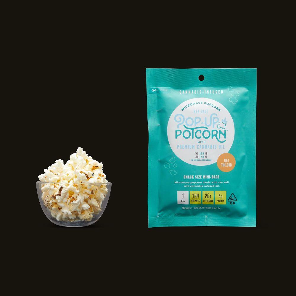 Pop-Up Potcorn Sea Salt Microwave Popcorn 10:1 - Single