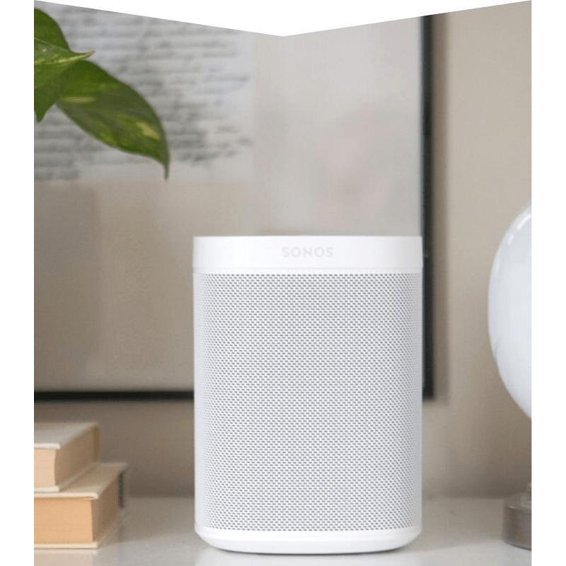 White Sonos bluetooth speaker