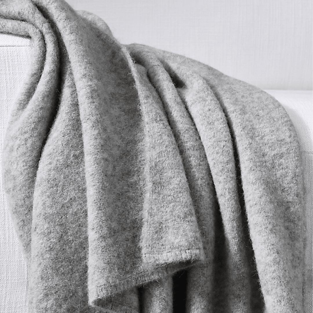 Restoration Hardware gray throw blanket