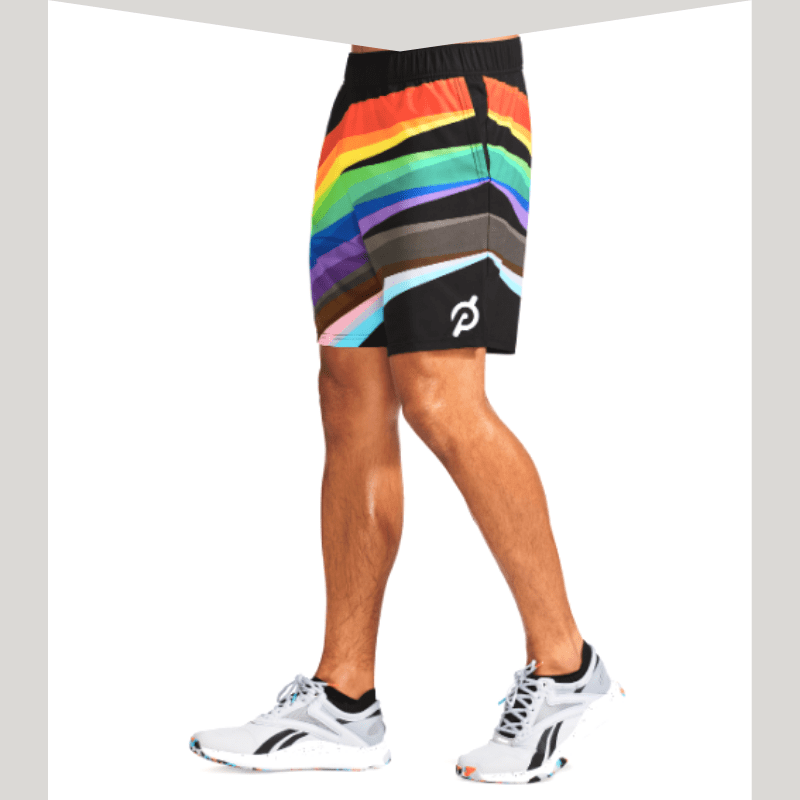Peloton pride men's shorts