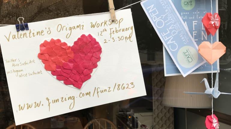 Valentines Origami Making Wine Funzing