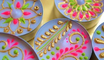 Henna Inspired Tea Light Canvas Design Workshop Funzing