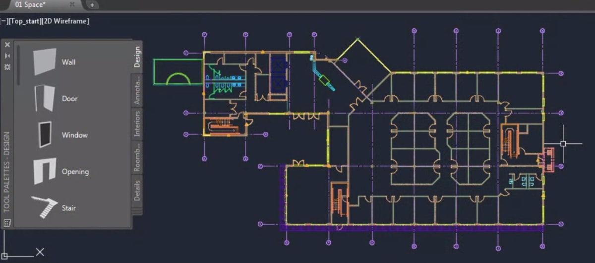 Managing spaces AutoCAD Architecture toolset