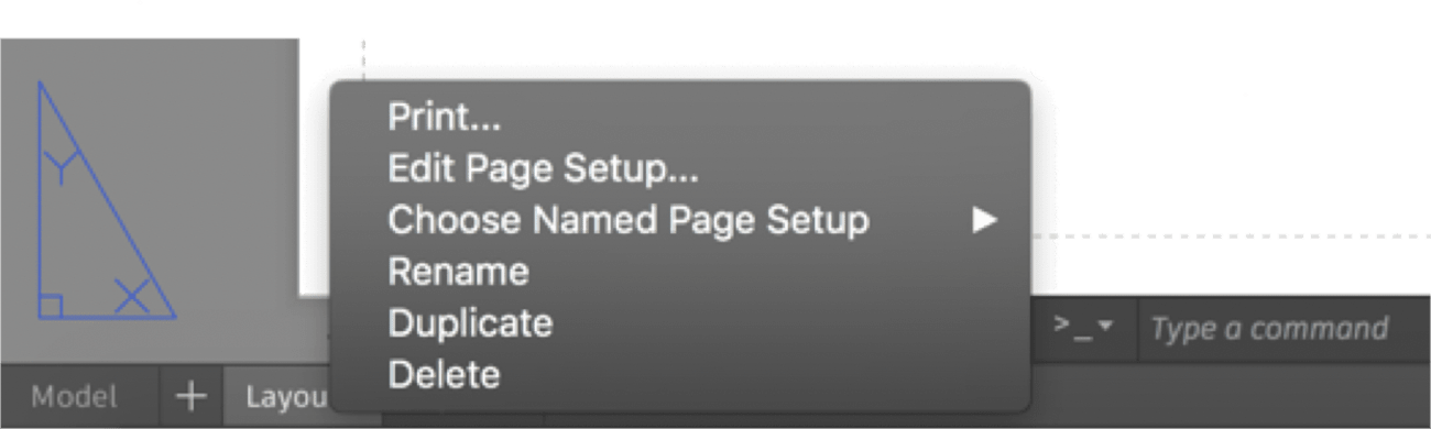 AutoCAD 2018.1 for Mac Update: Page Setup