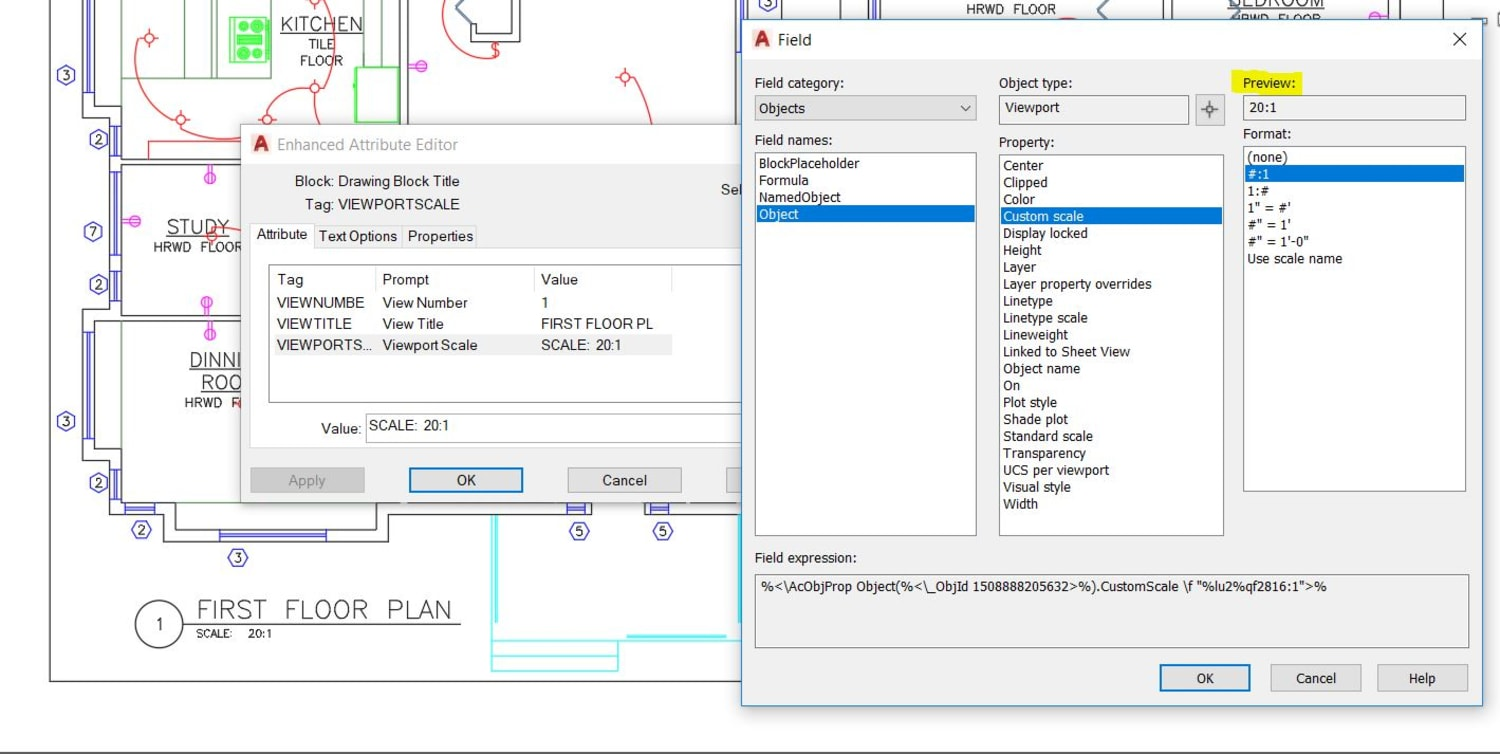 Attribute editor AutoCAD