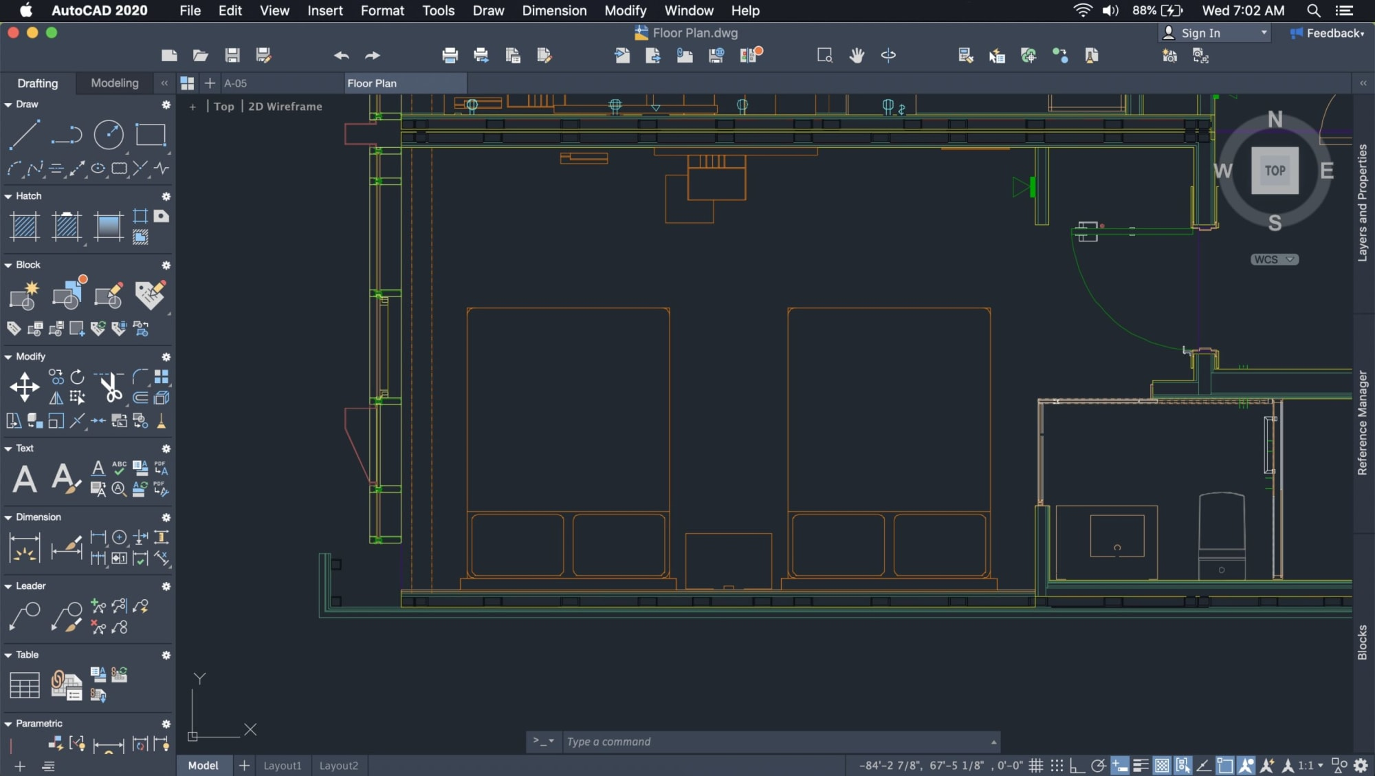 dark theme AutoCAD 2020 for Mac user interface