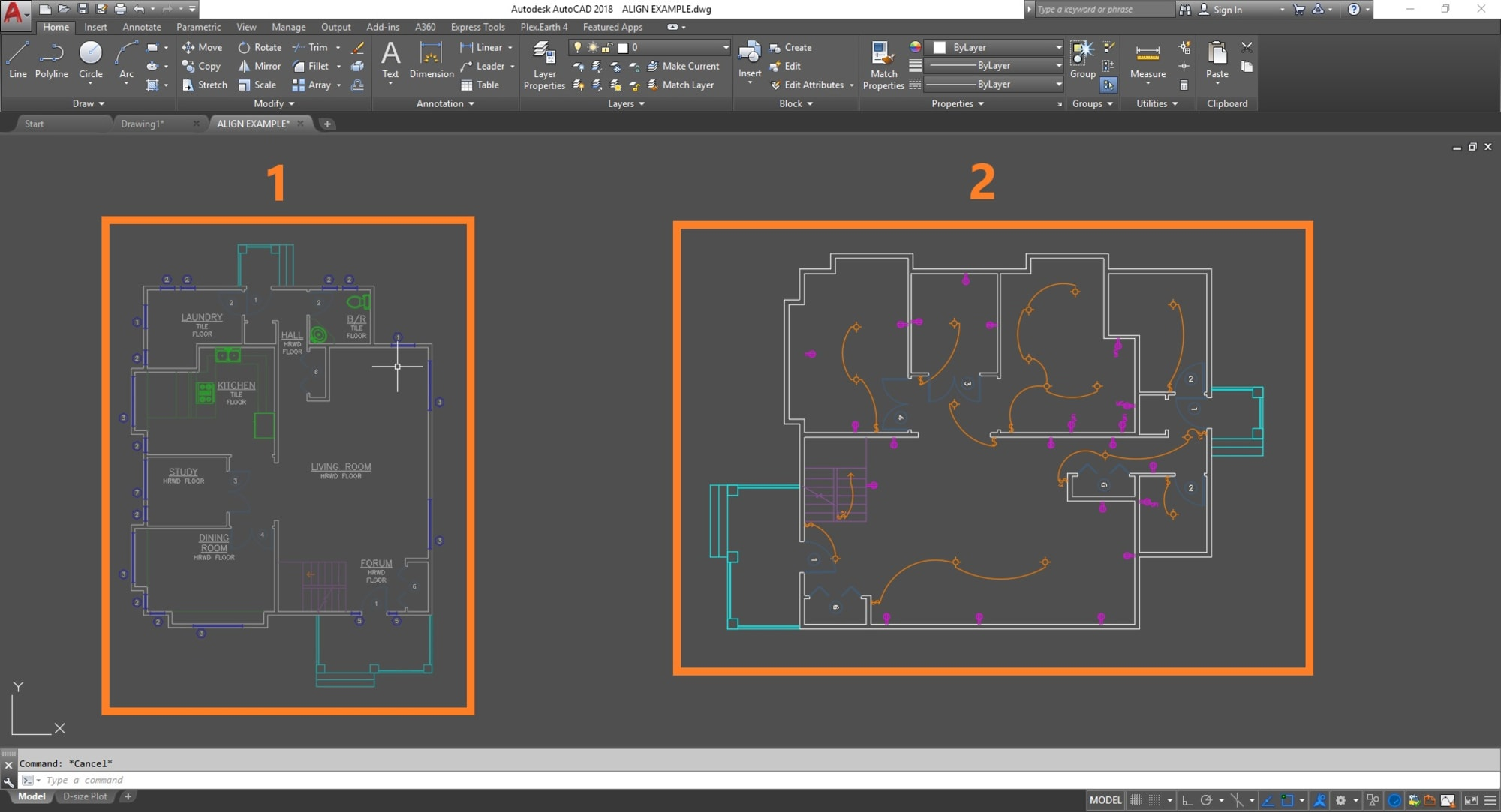 single plex receptacle wiring diagram staying aligned     using the align command tuesday tips with  align command