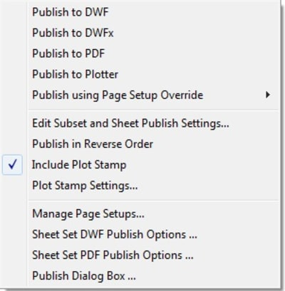 AutoCAD Sheet Sets Publish PDF DWF