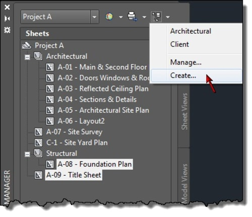 AutoCAD Named Sheet Selection