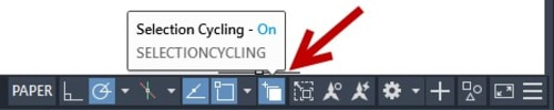 Selection Cycling icon AutoCAD