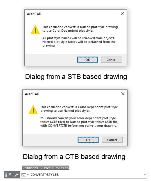 STB or CTB Dialog AutoCAD