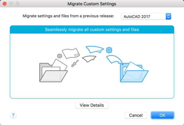 AutoCAD 2018 for Mac: Migrate Custom Settings