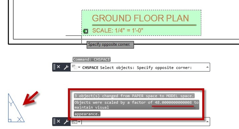 Paper Space to Model Space AutoCAD