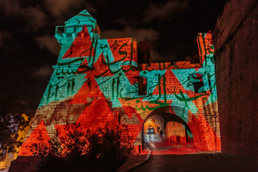 3D projection Ibiza Light Festival Andrei Visuals AutoCAD