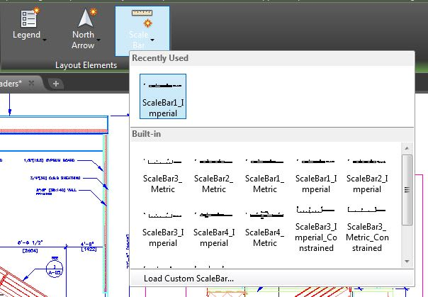 Scale Bar Map 3D toolset AutoCAD