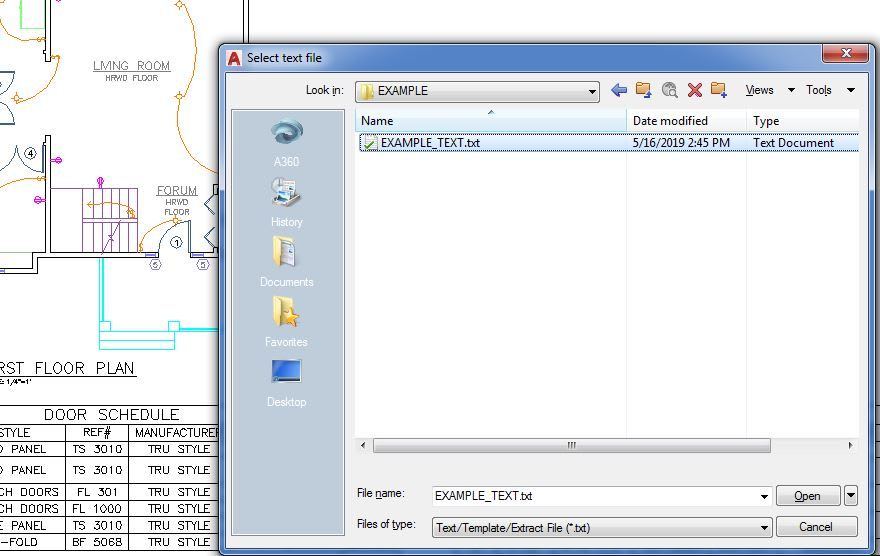 text file remote text AutoCAD