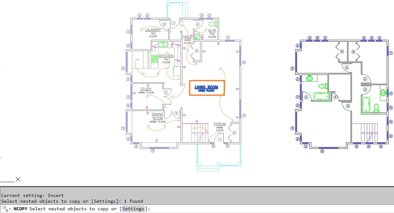 Selected Object AutoCAD