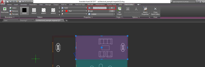 Object and Layer Transparency: Hatch Editor