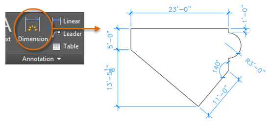 AutoCAD dimension types. Hitchhiker's guide to basics of AutoCAD dimensions.