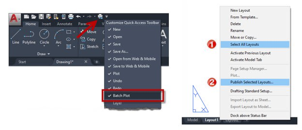 Publish Selected Layouts AutoCAD