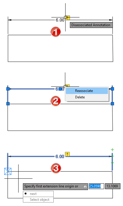 Annotation Monitor associate AutoCAD