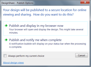 AutoCAD 2017 - DesignShare Publish Options.
