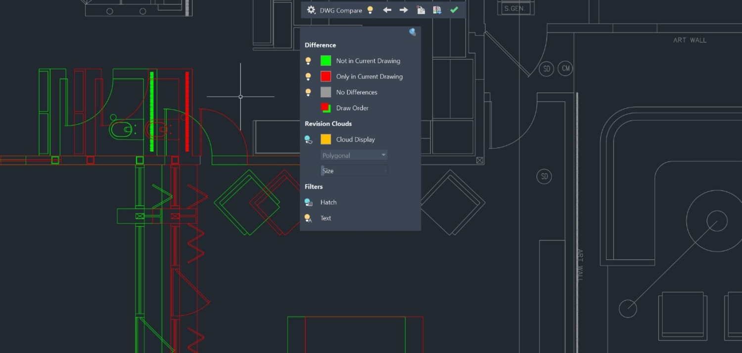Enhanced DWG Compare AutoCAD 2020
