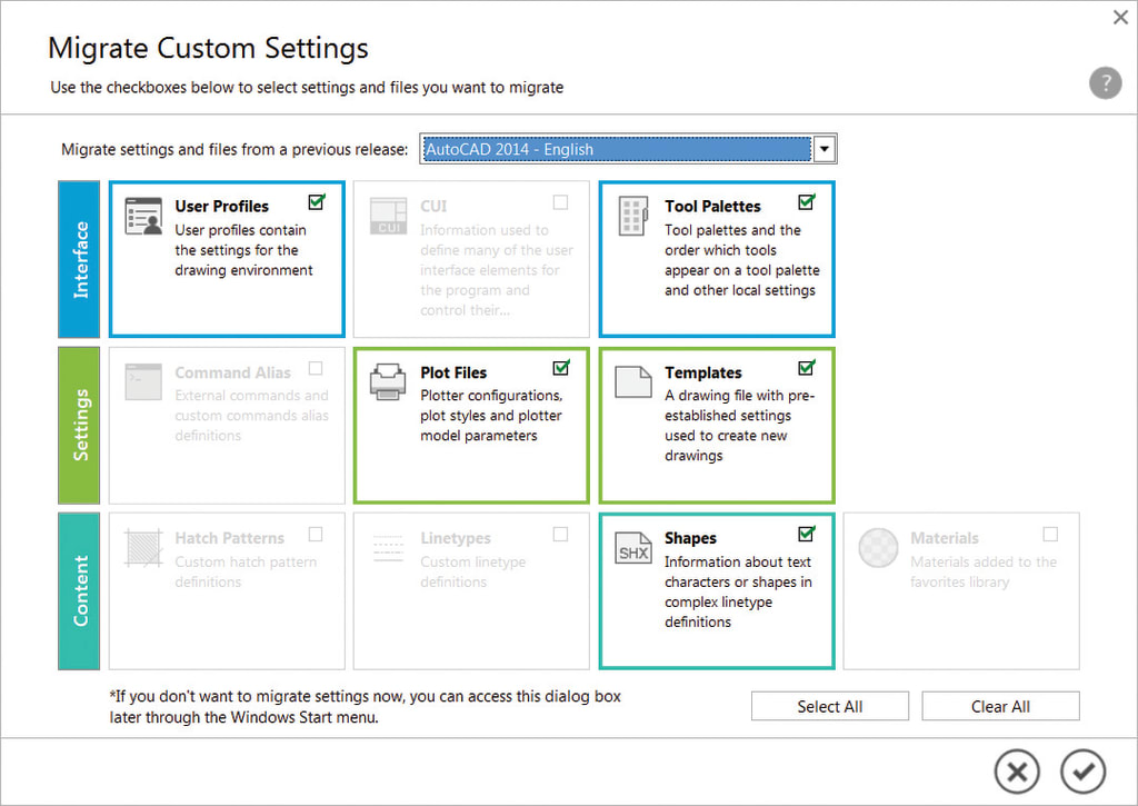 Migrate Custom Settings