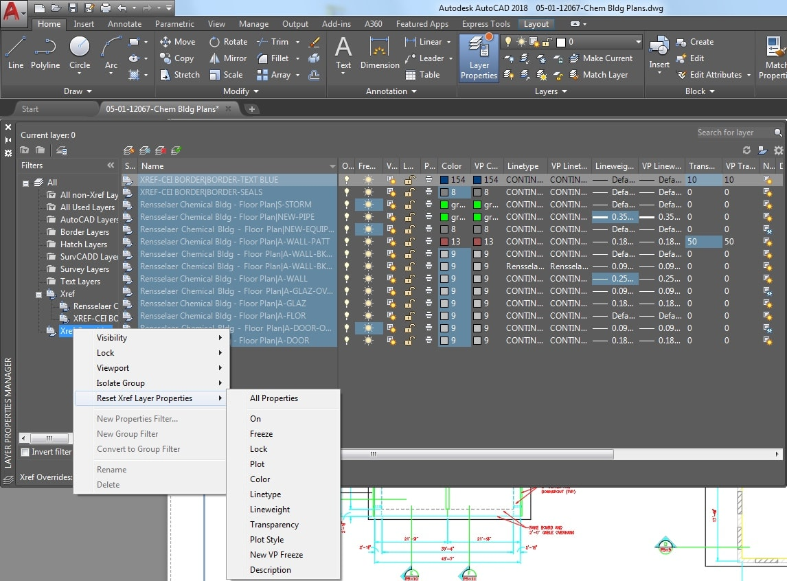 AutoCAD 2018.1 Update: Layer Property Overrides