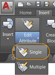 AutoCAD 2017 - Accessing the Enhanced Attribute Editor.
