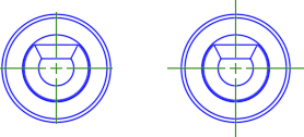 CENTEREXE set to .12 (left) and 1.0 (right).