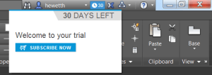 Trial days remaining