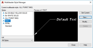 Multileader Style Manager AutoCAD
