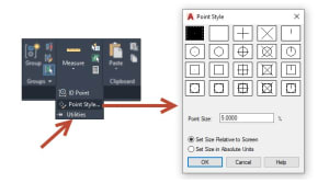 point style autocad
