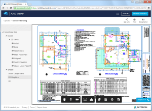 AutoCAD 2017 - Design view in the A360 viewer.