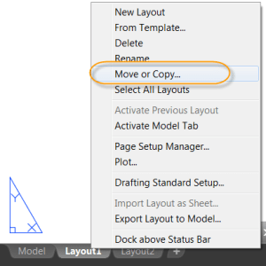 AutoCAD 2017 - Accessing the Move or Copy dialog box.