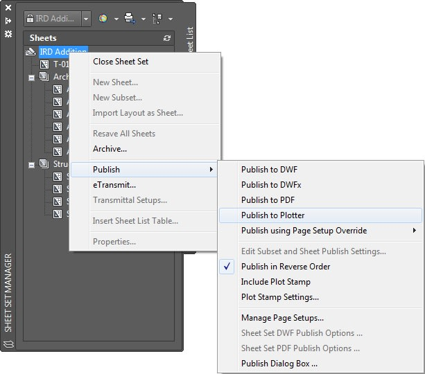 how to plot sheets in AutoCAD