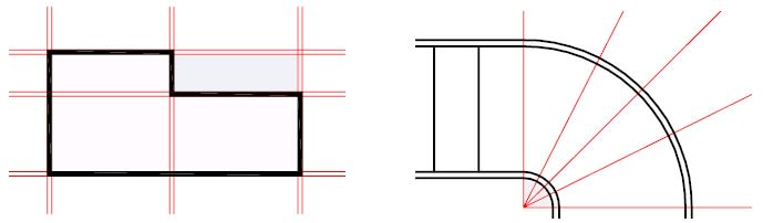 construction lines in AutoCAD