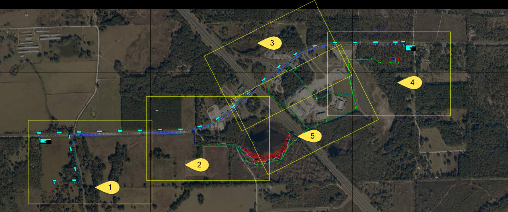 polylines site layout AutoCAD